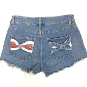 Refuge Women's Patriotic Mini Shorts